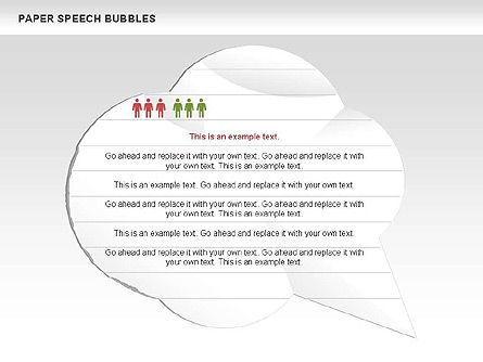 Free Paper Speech Bubbles Slide 2