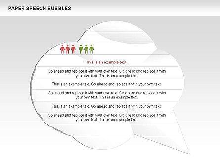 Free Paper Speech Bubbles, Slide 2, 00499, Shapes — PoweredTemplate.com