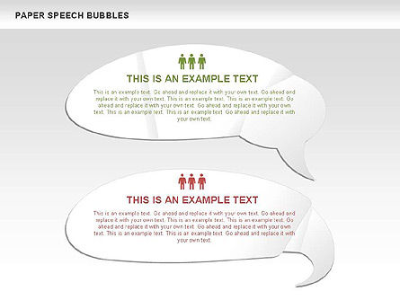 Free Paper Speech Bubbles, Slide 3, 00499, Shapes — PoweredTemplate.com