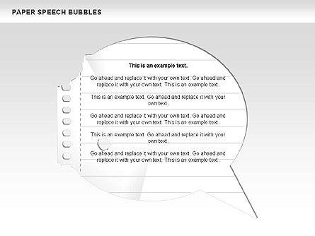 Free Paper Speech Bubbles, Slide 4, 00499, Shapes — PoweredTemplate.com