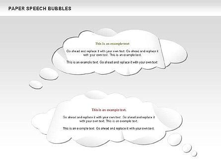 Free Paper Speech Bubbles, Slide 5, 00499, Shapes — PoweredTemplate.com