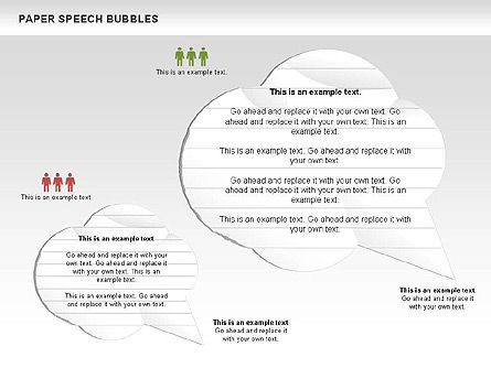 Free Paper Speech Bubbles, Slide 6, 00499, Shapes — PoweredTemplate.com
