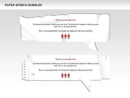 Free Paper Speech Bubbles, Slide 7, 00499, Shapes — PoweredTemplate.com