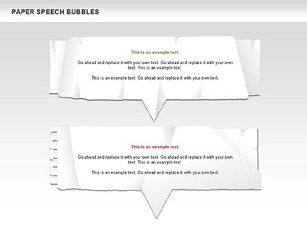 Free Paper Speech Bubbles, Slide 8, 00499, Shapes — PoweredTemplate.com