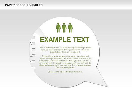 Free Paper Speech Bubbles, Slide 9, 00499, Shapes — PoweredTemplate.com