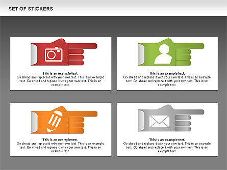 Hand Stickers, Slide 13, 00502, Icons — PoweredTemplate.com