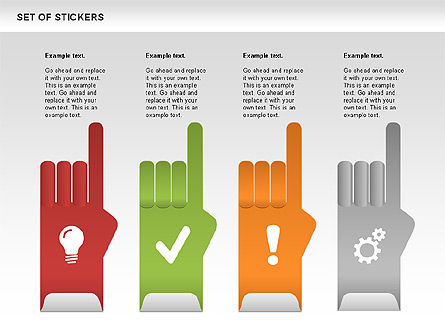 Hand Stickers, Slide 2, 00502, Icons — PoweredTemplate.com