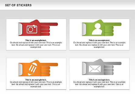 Hand Stickers, Slide 5, 00502, Icons — PoweredTemplate.com