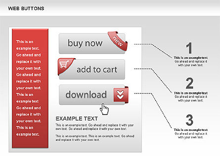 Web Buttons and Diagrams, Slide 3, 00505, Process Diagrams — PoweredTemplate.com