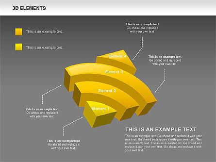 3D RSS Shapes, Slide 12, 00506, Shapes — PoweredTemplate.com