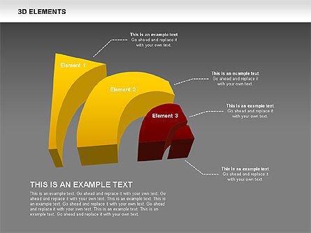 3D RSS Shapes, Slide 13, 00506, Shapes — PoweredTemplate.com