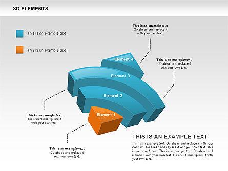 3D RSS Shapes, Slide 2, 00506, Shapes — PoweredTemplate.com