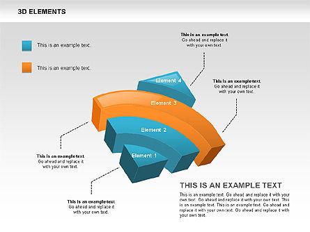 3D RSS Shapes, Slide 4, 00506, Shapes — PoweredTemplate.com