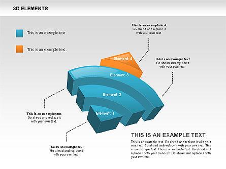 3D RSS Shapes, Slide 5, 00506, Shapes — PoweredTemplate.com