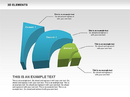 3D RSS Shapes, Slide 7, 00506, Shapes — PoweredTemplate.com