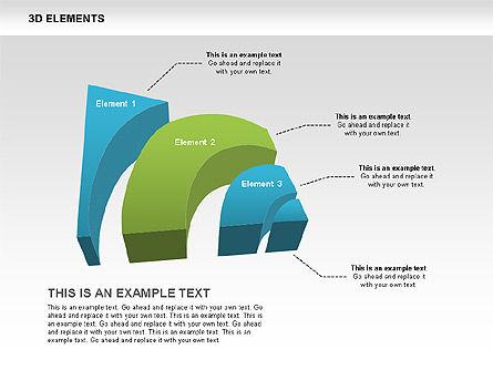 3D RSS Shapes, Slide 8, 00506, Shapes — PoweredTemplate.com