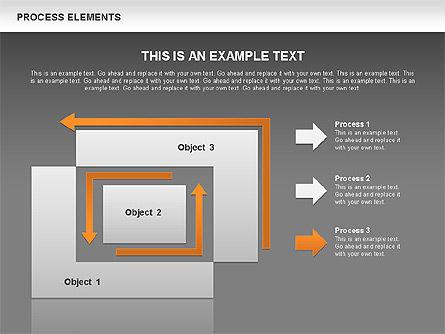 Process Square Shapes Collection, Slide 10, 00508, Process Diagrams — PoweredTemplate.com