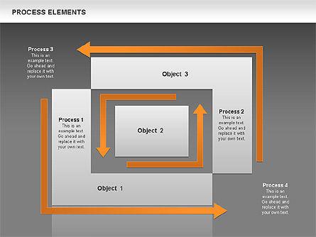 Process Square Shapes Collection, Slide 11, 00508, Process Diagrams — PoweredTemplate.com
