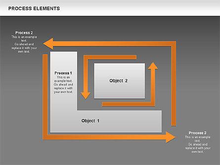 Process Square Shapes Collection, Slide 12, 00508, Process Diagrams — PoweredTemplate.com