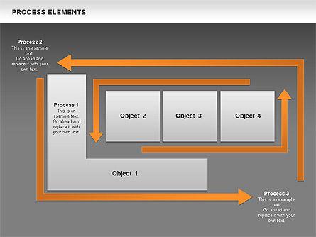 Process Square Shapes Collection, Slide 13, 00508, Process Diagrams — PoweredTemplate.com
