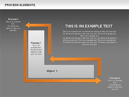 Process Square Shapes Collection, Slide 14, 00508, Process Diagrams — PoweredTemplate.com
