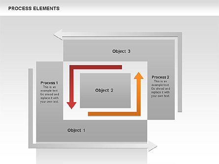Process Square Shapes Collection, Slide 2, 00508, Process Diagrams — PoweredTemplate.com