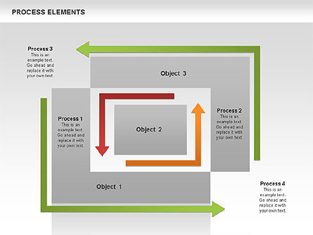 Process Square Shapes Collection, Slide 3, 00508, Process Diagrams — PoweredTemplate.com