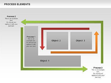 Process Square Shapes Collection, Slide 5, 00508, Process Diagrams — PoweredTemplate.com