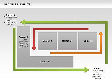 Process Square Shapes Collection, Slide 6, 00508, Process Diagrams — PoweredTemplate.com