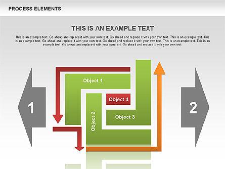 Process Square Shapes Collection, Slide 8, 00508, Process Diagrams — PoweredTemplate.com