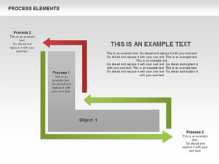 Process Square Shapes Collection, Slide 9, 00508, Process Diagrams — PoweredTemplate.com