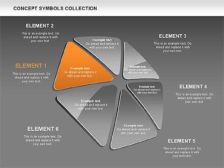 Triangle Concept Shapes, Slide 12, 00511, Shapes — PoweredTemplate.com