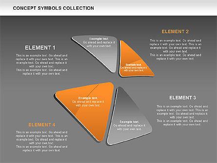 Triangle Concept Shapes, Slide 13, 00511, Shapes — PoweredTemplate.com