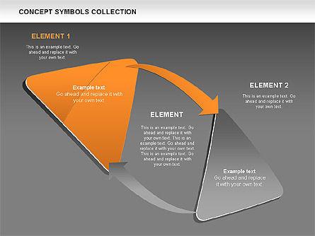 Triangle Concept Shapes, Slide 14, 00511, Shapes — PoweredTemplate.com