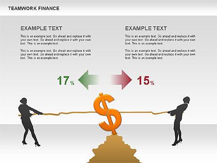 Teamwork Financial Diagrams, Slide 10, 00513, Stage Diagrams — PoweredTemplate.com