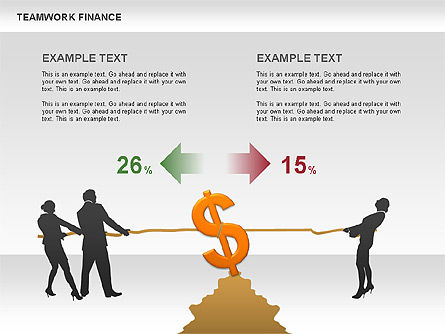 Teamwork Financial Diagrams, Slide 11, 00513, Stage Diagrams — PoweredTemplate.com