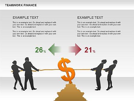 Teamwork Financial Diagrams, Slide 12, 00513, Stage Diagrams — PoweredTemplate.com