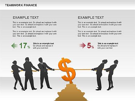 Teamwork Financial Diagrams, Slide 13, 00513, Stage Diagrams — PoweredTemplate.com