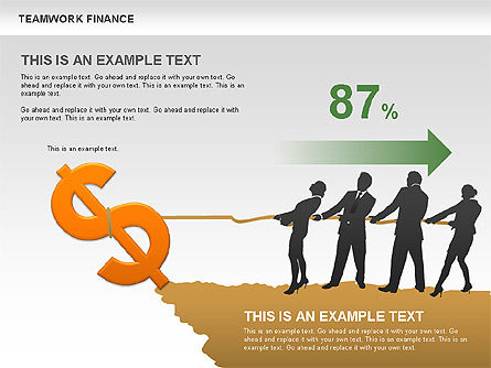 Teamwork Financial Diagrams, Slide 3, 00513, Stage Diagrams — PoweredTemplate.com