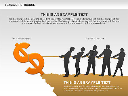 Teamwork Financial Diagrams, Slide 4, 00513, Stage Diagrams — PoweredTemplate.com