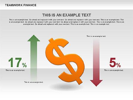 Teamwork Financial Diagrams, Slide 5, 00513, Stage Diagrams — PoweredTemplate.com