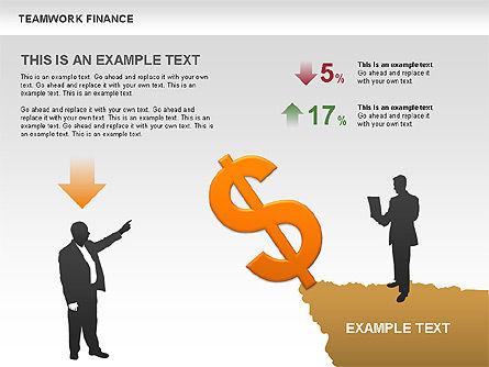 Teamwork Financial Diagrams, Slide 6, 00513, Stage Diagrams — PoweredTemplate.com