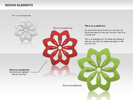 Overlapping Petals Color Shapes, Slide 3, 00514, Shapes — PoweredTemplate.com