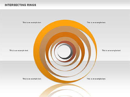 Intersecting Rings, 00515, Shapes — PoweredTemplate.com