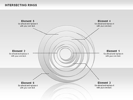 Intersecting Rings, Slide 2, 00515, Shapes — PoweredTemplate.com