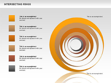 Intersecting Rings, Slide 3, 00515, Shapes — PoweredTemplate.com