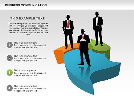 Business Diagrams, Slide 4, 00517, Shapes — PoweredTemplate.com