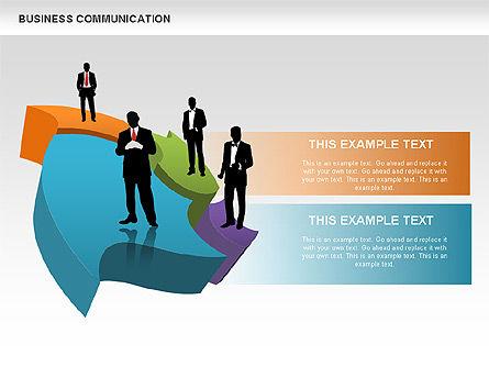 Business Diagrams, Slide 8, 00517, Shapes — PoweredTemplate.com