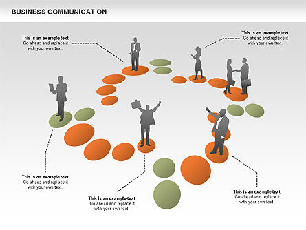 Business Communications, 00521, Process Diagrams — PoweredTemplate.com
