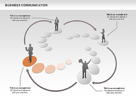 Business Communications, Slide 2, 00521, Process Diagrams — PoweredTemplate.com